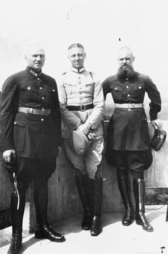 Two Red Army officers are photographed with a German Army officer during training exercises in Germany sometime in the late 1920s. Military cooperation between the USSR and Germany went on under the noses of the Allies, with the Germans particularly benefiting from opportunities to study tank and air tactics in the USSR.