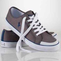 Ralph Lauren Pony Latton Leather Shoes DarkGray