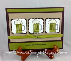Stampin' Up! Cheers to You on St. Patty's Day - Green Beers