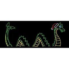 X Animated Sea serpent ground mount Outdoor Christmas Light Displays, Christmas Lights, Sea Serpent, Xmas Ideas, Santa Hat, Lighting Ideas, Animation, Seasons, Hats