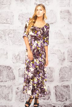 Back from Bali floral maxi dress is the ultimate in vintage boho vibe!