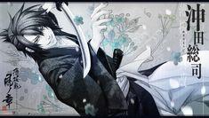 Tags: Wallpaper, Hakuouki Shinsengumi Kitan, Okita Souji (Hakuouki), Official Wallpaper, Official Art, DESIGN FACTORY, Otomate