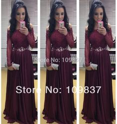 dress dr Picture - More Detailed Picture about Maroon Off shoulder Full Length Beaded Appliqued Chiffon Floor length Ladies Sexy Evening Dress K2619 Picture in Evening Dresses from Sequoia Trading Company (NO.5) | Aliexpress.com | Alibaba Group