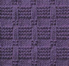 Tiles I ... STITCHES: purl, knit, edge stitch ... PATTERN: 12 rows ... STITCH NUMBER: multiple of 7 + 7 + 2 edge stitches ... DIFFICULTY: easy