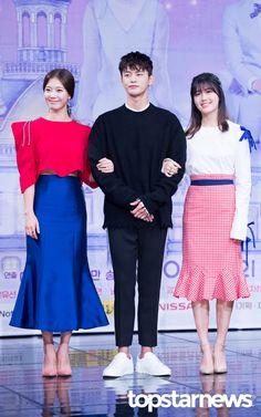 [HD포토] 임세미-서인국-남지현 두 여배우 사이에서 어색한 포토타임 #topstarnews