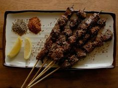 Uyghur Spicy Beef Skewers