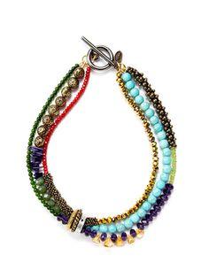 Tova multi stone necklace