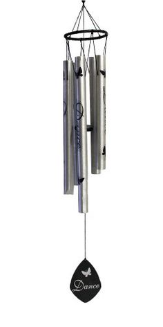 Jade Garden F342401 Silver Dance Wind Chime -- This is an Amazon Associate's Pin. Clicking on the VISIT button will lead you to find the item on Amazon website.