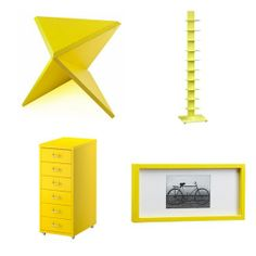 Rectangular Yellow Hi-Gloss Frame, from CB2, $34.95