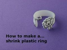How to Make a Shrink Plastic Animal Ring Tutorial