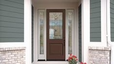 Front entry, patio, house-to-garage, back-of-house and garage exterior Therma-Tru doors increase your comfort, energy efficiency and performance. French Doors Patio, Patio Doors, Entry Doors, Sliding Doors, Entrance, Entryway, Garage Exterior, Exterior Trim, Exterior Doors