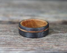 Authentic Whiskey Barrel Ring with Titanium - Wedding bands - Wedding Advice, Wedding Bands, Wedding Pics, Bridal Pics, Budget Wedding, Wedding Shoes, Whiskey Barrel Wedding, Gold Knot Ring, Antler Ring