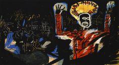 Jean-Michel Basquiat (American, 1960-1988), Profit I, 1982. Acrylic and spray paint on canvas, 220 x 400 cm.viajeromeof
