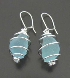 Sea Glass Jewelry-cute! Have been making jewelry for 9 years! Gosh I am getting old.