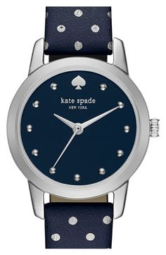 kate spade new york 'mini metro' leather strap watch, 20mm available at #Nordstrom