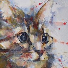 Cat Paintings - Intent  by Paul Lovering