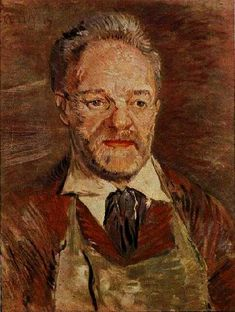 Van Gogh, Portrait of Père Tanguy Oil on canvas 47.0 x 38.5 cm. Paris: Winter, 1886-87 Copenhagen: Ny Carlsberg Glyptotek