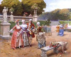 Sunday in the Park ~ Henri-Victor Lesur ~ (French: 1863-1900)