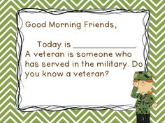 Veteran's Day Morning Messages