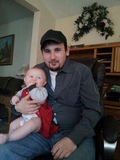 Frank (nephew) and baby Don (great nephew)