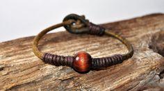 FREE SHIPPING  Men bracelet leather men bracelet by FosforStore, $21.00