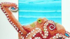 Seed Bead Embroidered Octopus by Epigman on Etsy