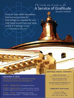A Service of Gratitude - November 9, 2013