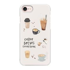 Coffee Solves Everything - iPhone 7 Case And Cover ($29) ❤ liked on Polyvore featuring accessories, tech accessories, phone, phone cases, capas para celular, iphone case, apple iphone case, iphone cover case, iphone cases and slim iphone case