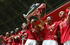 Ferdinand captained Manchester United to a Champions League final win against Chelsea in May 2008
