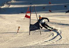 Allenamento col sole per gli slalomgigantisti a Moelltal