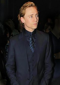 Dapper Blonde Tom in another beautiful suit.
