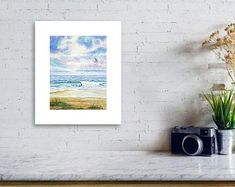 Original Watercolor and Acrylic Paintings & Prints by KathrynMDuncan Great Paintings, Small Paintings, Nature Paintings, Acrylic Paintings, Painting Prints, Original Paintings, Beach Wall Art, Summer Landscape, Mini Canvas
