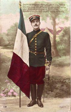Uniforme Français au début de la Première Guerre Mondiale. #centenaire #Geneanet