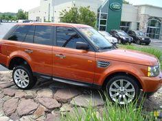 Vesuvius Orange Range Rover Sport