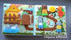 Развивающая книжка ручной работы (10 страниц) – купить в интернет-магазине на in-dee с доставкой - BIAAHG   Смоленск Projects For Kids, Diy For Kids, Crafts For Kids, Cloth Books For Babies, Baby Quiet Book, Quiet Book Patterns, Felt Quiet Books, Baby Learning, Toddler Books