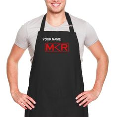 Personalized MKR Apron - Black : So want one of these. lol