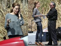 Angelina_Jolie_Fashion_Style jeans slouchy sweater & stiletto nude heels