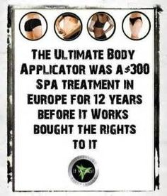 Did you know? Amazing! Click to view the It Works Global Ultimate Body Applicator! Box of 4 for just $59!