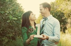 """Love this Idea.  You should start it! Take a picture together every year on your wedding anniversary and one with a """"Just Married"""" sign on your wedding day"""
