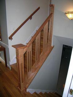Staircase Railing Ideas | Handmade Stair Railing by Dunbar Woodworking Designs | CustomMade.com