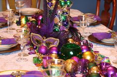Mardi Gras Table Setting