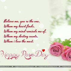 Rose Day Happy Valentine Card Love Messages