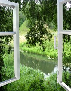 ...through an open window...along a winding creek...our wandering thoughts will go...vlw
