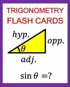 Trigonometry Flash Cards: Memorize Values of Trig Functions (sin, cos, tan) from 0 to 360 Degrees by Chris McMullen, http://www.amazon.com/dp/B0074EWAUS/ref=cm_sw_r_pi_dp_5gbNsb0RHRW4Y