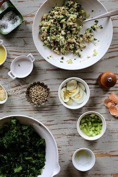 Tuna, Kale and Egg Salad