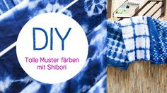How to Dye Fabric - Shibori Pole Dyeing Technique Diy Top, Diy Tie Dye Shirts, Shibori Fabric, Indigo, Trends, How To Dye Fabric, Diy Fashion, Youtube, Shibori Techniques