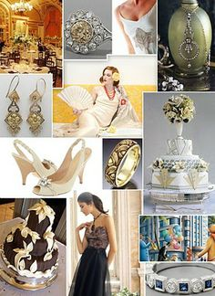 Stylized Art Deco Wedding, Classy themed wedding