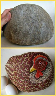 Painting Rock & Stone Animals, Nativity Sets & More: Before & After Painted Rocks: Things with Wings