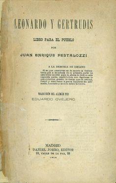 Leonardo y Gertrudis : libro para el pueblo
