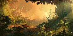 Visual development for Rayman Legends - Christophe Messier Concept Art Landscape, Fantasy Landscape, Landscape Art, Fantasy Art, Forest Illustration, Landscape Illustration, Environment Concept, Environment Design, Rayman Legends